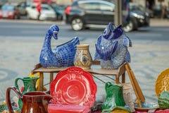 Lisbon Flee Market. Flee Market in the streets of Lisbon, Portugal Royalty Free Stock Photos