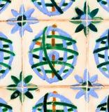 Lisbon floral tiles Stock Photography