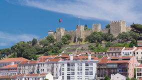 Lisbon fortress of Saint George view, Portugal stock footage