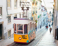 Lisbon funicular Royalty Free Stock Images