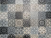 Lisbon geometric Azulejo tile vector pattern, Portuguese or Spanish retro old tiles mosaic, Mediterranean seamless black and white. Beautiful Lisbon geometric stock image