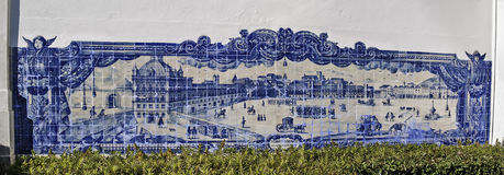 Lisbon glazed tile Stock Image