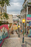 Lisbon Grafitti. Grafitti in the Streets of Lisbon, Portugal Royalty Free Stock Photography
