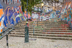 Lisbon Grafitti Royalty Free Stock Photography