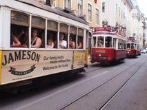 LISBON grupa ELEKTRYCZNY tramwaj Fotografia Stock