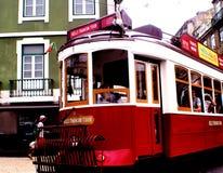 LISBON grupa ELEKTRYCZNY tramwaj Zdjęcia Stock