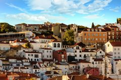 Lisbon Hill in Afternoon Light stock photography