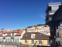 Lisbon hills and lifts Royalty Free Stock Image