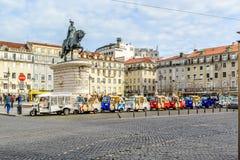 Lisbon and his tuk tuk taxi transport Stock Photography