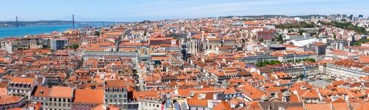 Lisbon Historical City Panorama Stock Images