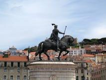Lisbon horse statue Stock Image