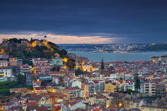 Lisbon. Image of Lisbon, Portugal during twilight blue hour stock image