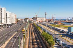Lisbon Industrial Port District Royalty Free Stock Images