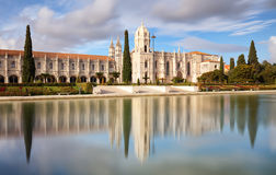 Lisbon, Jeronimos Monastery or Hieronymites, Portugal royalty free stock photo