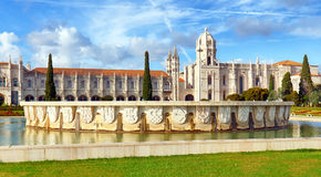 Lisbon, Jeronimos Monastery or Hieronymites, Portugal royalty free stock photography
