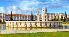 Lisbon, Jeronimos Monastery or Hieronymites, Portugal royalty free stock images