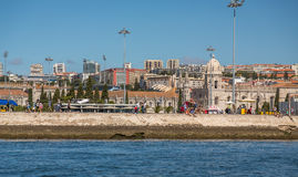 Lisbon Jeronimos. Jeronimos Monument in Lisbon view from the river, Portugal Royalty Free Stock Photo