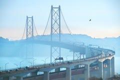 Lisbon 25 Kwiecień most, Portugalia Zdjęcie Stock