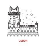 Lisbon Landmark Vector Illustration Royalty Free Stock Photography