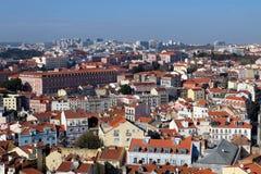 Lisbon linia horyzontu Obrazy Royalty Free