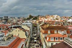Lisbon linia horyzontu - Portugalia obraz stock