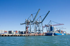 Lisbon Loading Port, Portugal: partial view Royalty Free Stock Image