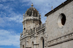 Lisbon. Magnificent dome of Jeronimos Monastery. Surprisingly beautiful style manuelino Stock Images