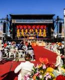 LISBON - 7 2017 MAJ: Vesak festiwal - świętowanie Buddha ` s urodziny na 7 2017 w Lisbon przy Ribeira das Naus Maju Fotografia Royalty Free
