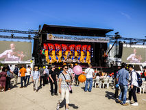 LISBON - 7 2017 MAJ: Vesak festiwal - świętowanie Buddha ` s urodziny na 7 2017 w Lisbon przy Ribeira das Naus Maju Obrazy Royalty Free