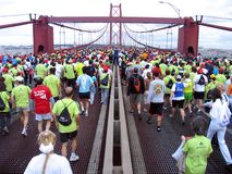 Lisbon Marathon royalty free stock images