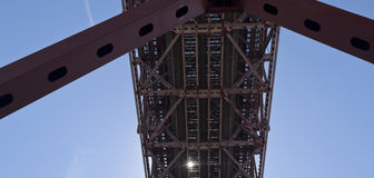 Lisbon Metallic Structures Royalty Free Stock Photo