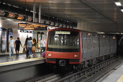 Lisbon Metro in Portugal stock images