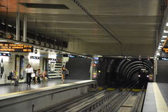 Lisbon Metro Train in Portugal stock image