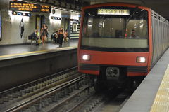 Lisbon Metro Train in Portugal royalty free stock photography