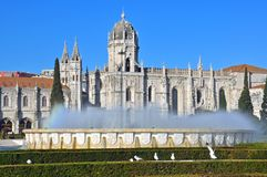 Lisbon monastery Royalty Free Stock Photo