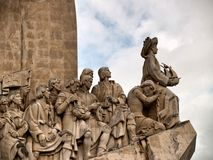 Lisbon monument close up. Royalty Free Stock Image
