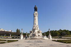 Lisbon, monument on the Marques de Pombal square Royalty Free Stock Images