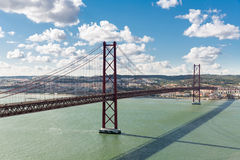Lisbon most Portugalia Obraz Royalty Free