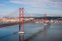 Lisbon mostu fotografia stock