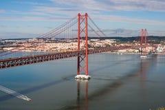 Lisbon mostu Obraz Royalty Free