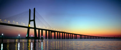 Lisbon mostu Obrazy Stock
