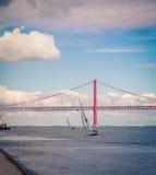 Lisbon mostu Fotografia Royalty Free