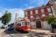 Lisbon muzeum i tramwaju sławne Portugalskie Dekoracyjne sztuki Obraz Royalty Free
