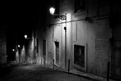 lisbon natt Royaltyfri Bild