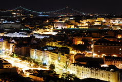 lisbon natt Arkivbilder