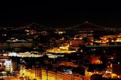 Lisbon at night Royalty Free Stock Photo