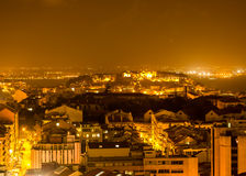Lisbon by night, a magic view Stock Photography