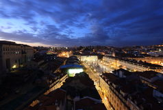 Lisbon in the night royalty free stock photography