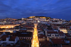 Lisbon in the night. Portugal Stock Photography