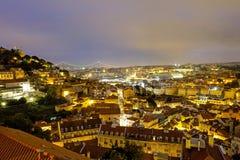 Lisbon at night Royalty Free Stock Photos